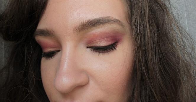 Makeup close eyes